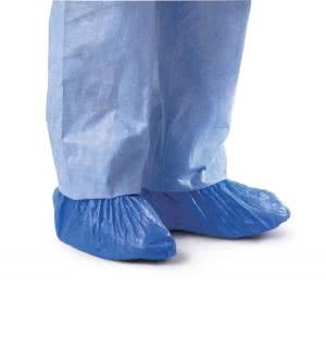 SHOE COVER POLY BLUE CPE ONE SIZE FITS ALL