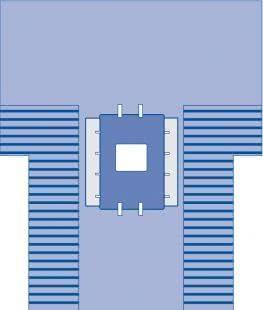 DRAPE LAP CHOLE W/PLAS SIDE TROUGHS 259x310CM
