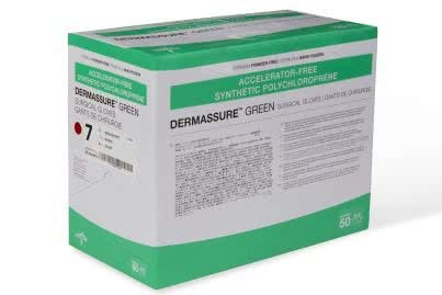 DermAssure Green Sterile Accelerator-Free, Latex-Free and Powder-Free Surgical Gloves