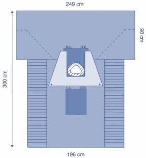 DRAPE CAESAREAN 270 POUCH FENESTRATION INCISE