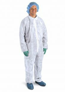 COVERALL WHITE XLARGE COVERALL SPUNBOND WHITE