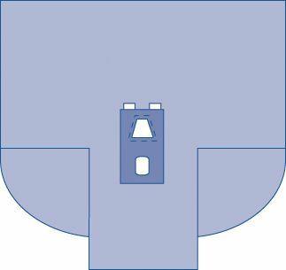 DRAPE LAPAROSCOPY WITH GUSSETS 259X246X102CM