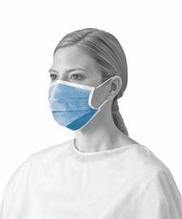 FLUID RESISTANT MASK ANTI FOG EARLOOPS