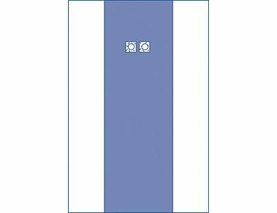 DRAPE FEMORAL ANGIO DUAL CLEAR SIDE PANELS 203X318CM