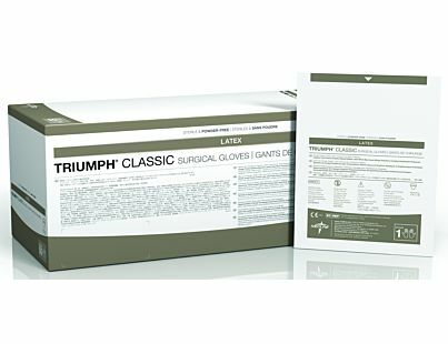 Triumph Classic Sterile Latex Powder-Free Surgical Gloves