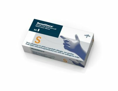 Sensicare Extended Cuff Blue Nitrile Exam Gloves