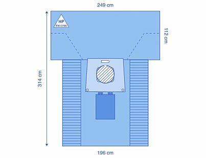 DRAPE CAESAREAN 360 POUCH SOLID INCISE